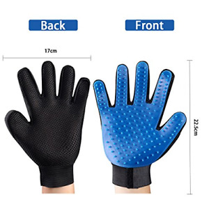 Pet Grooming Gloves, Flexible Pet Hair Remover Mitt with Soft Silicone Tips