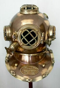 Antique Navy MARK V Vintage DIVING HELMET Divers Deep Sea Maritime 18 inch