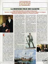 Coupure de Presse Clipping 1992 (1 page) Folie des Salkind Christophe Colomb