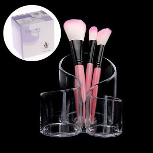 Makeup Brush Holder Clear Acrylic 3 Cylindrical Holder Brush Makeup Cosmetic