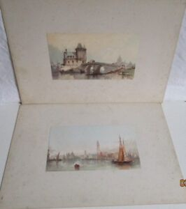 Two antique coloured lithograph prints by Paul Marny  #S4