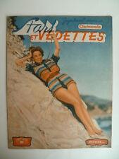 """Magazine STARS et VEDETTES (CINEMONDE) n° 17 de 1950 - Cv. Pin Up """"Vertiges"""""""