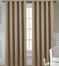 Living/Dining Room Thermal Blackout Eyelet Curtains 72s in Coffee