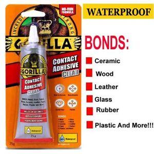 Gorilla Glue Contact Adhesive Waterproof No Run Clear Strong Permanent Bond 75g