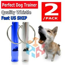 2 Pcs Set Hot Pet Dog Training Whistle Dog Obedience Stop Barking Pet Us Ship