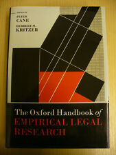 The Oxford Handbook of Empirical Legal Research (P. Cane, H.B. Kritzer, eds.)