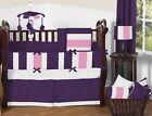 Baby Crib Patchwork Bedding Set Fitted Skirt Comforter Pillowcase Bumper