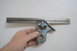 Vintage Rabone chesterman cast Combination sliding Square No 1912 Old Steel 12""