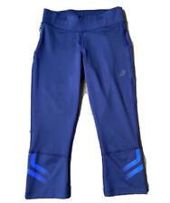 Asics Women Blue 3/4 Activewear Workout Leggings Sz XS