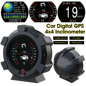 Car Digital GPS Inclinometer Compass Slope Meter Gauge Clinometer Off Road