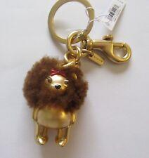 Coach Wizard of Oz Cowardly Lion Teddy Bear Bag Charm /Key Ring F35249