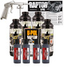 U-POL Raptor Tintable Black Metallic Bed Liner Kit w/ Spray Gun, 4 Liters Upol