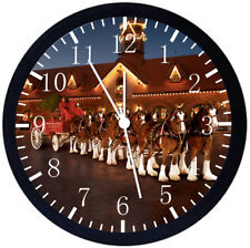 Clydesdale Horse Black Frame Wall Clock Nice For Decor or Gifts Y25