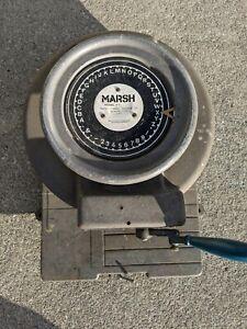 """Vintage Marsh Stencil Machine Die Cutter Press 1"""" Inch"""