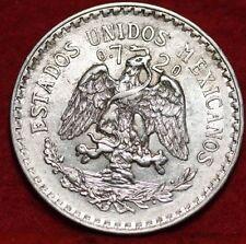 MEXICO, Vintage 1923  UN PESO SILVER COIN, Very Fine Circulated, NICE COIN