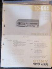 Sony TC-K44 cassette deck service repair workshop manual (original copy)
