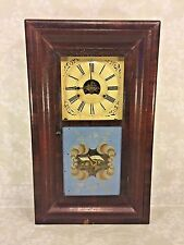Ant Smith & Goodrich Ogee Clock Great Old Glass Tablets Not Running No Weights
