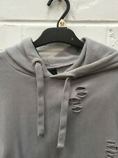 New listing River Island Grey Jumper Pullover Distressed Style Hoodie Size Small #CE