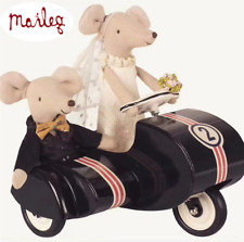 Maileg Wedding Mice Couple W/ Black Scooter in Box Houston Ship GIFT 12Sets Left