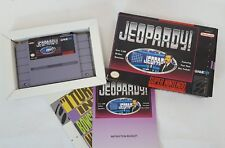 SNES Super Nintendo JEOPARDY with Alex Trebek! (1992) Game Cartridge COMPLETE