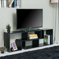TV Cabinet Consolew/4 Convertible Type Bookcase Modern Stand Unit Media Storage