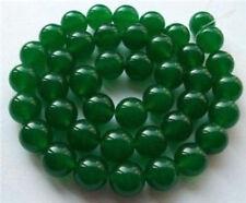 "8MM Natural Green Jade Emerald Round Gems Loose Beads 15""AAA"