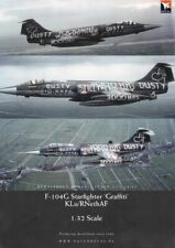 Dutch Decal 1/32 'Graffiti' Lockheed F-104G Starfighter KLu/RNethAF # 32015