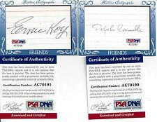 Historic  Friends & Foes Ernie Koy & Dolph Camille Autos PSA/DNA Certified