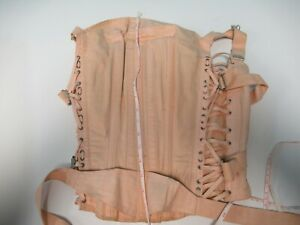Antique Pink CAMP Corset Stays In Need of TLC for Repair Study Steam Punk