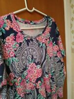 Coral Bay Floral Abstract Top Size 1X