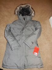 NWT Women's North Face Large Graphite Grey Heather Arctic Down Parka Jacket