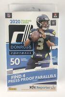 2020 Donruss Football Blue Sealed Hanger Box - RC ? Tua-Herbert-Burrow Parallels