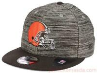 Cleveland Browns NFL New Era 9Fifty Heather Brown Snapback hat cap