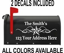 CUSTOM PERSONALIZED STAR NAME VINYL MAILBOX DECAL - SET OF 2 - 5X12
