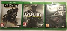 3 COMPLETE XBOX ONE GAMES CALL OF DUTY GHOSTS + ADVANCED + INFINITE WARFARE