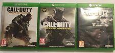3 COMPLETO XBOX ONE GIOCHI Call of Duty Ghosts + + avanzata guerra infinita