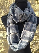 SOFT GREY FAUX FUR INFINITY SNOOD BNWT.
