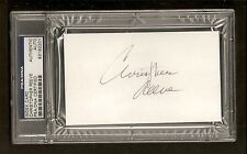 Christopher Reeve Superman Signed Auto Index Card PSA/DNA ENCAPSULATED