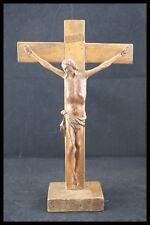 † 18TH WALNUT WOOD HANDCARVED CHRISTI CORPUS CRUCIFIX JESUS CHRIST CROSS FRANCE†