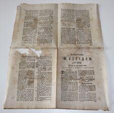 antike Zeitung, Hannoversche Anzeigen, Hannover 1808  #H304