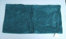 "Williams Sonoma Pleated Velvet Pillow Cover 15"" X 30"" Turquoise  NWT"
