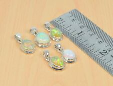WHOLESALE 5PC 925 SOLID STERLING SILVER NATURAL ETHIOPIAN OPAL PENDANT LOT