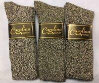 3pr Men's Cotton Ragg Boot/Outdoor Socks..Marbled Gray/Black 10-13 LG