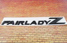 Black Fairlady Z Emblem Replace OEM Fair Lady Z Fender / Trunk Badge 350Z 370Z
