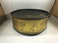 Vintage GUILDCRAFT Footed Tin Bird of Paradise Grecian NY