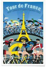 PLAQUE MÉTAL TOUR DE FRANCE VELO CYCLISME     30 X 20 CM