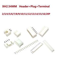 Encabezado XH2.54MM & Enchufe y terminal JST PCB Conector 2 Pin/3 Pin/4 Pin/5 ~ 20Pin