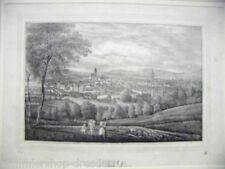 1014 litografía Jena vista total de Jena litografía de Saxonia 1837