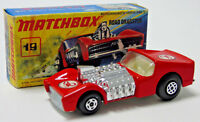 No.19 1971 Matchbox Superfast Red Road Dragster Scorpion Decal 1:64 Scale Boxed