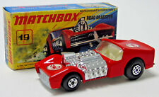 No.19 1971 Matchbox Superfast Rouge Road Dragster Scorpion Decal 1:64 Échelle